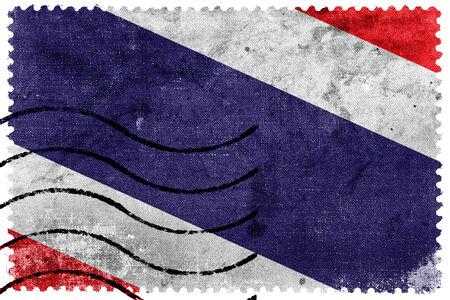 sello postal: Bandera de Tailandia - antiguo sello postal