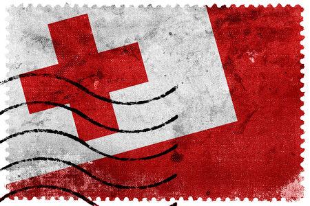 sello postal: Tonga Flag - antiguo sello postal