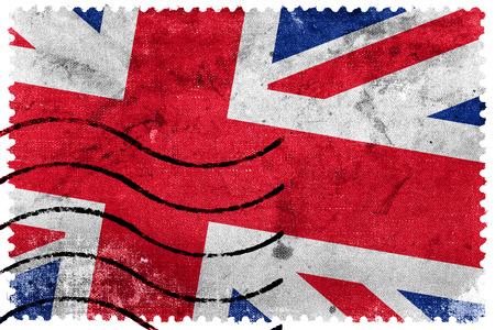 postage stamp: United Kingdom Flag - old postage stamp