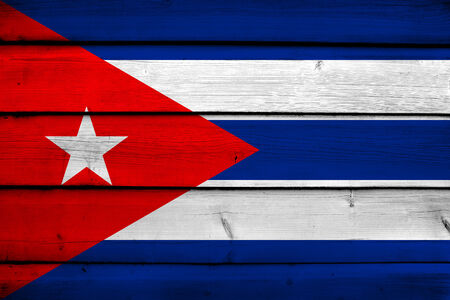 cuban flag: Cuba Flag on wood background