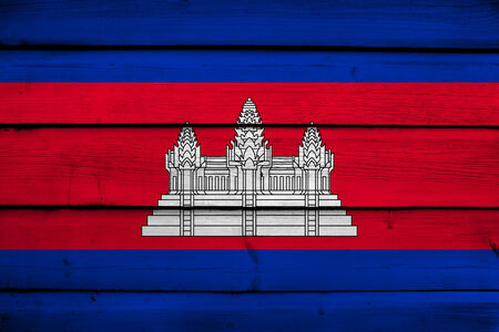 cambodian flag: Cambodia Flag on wood background