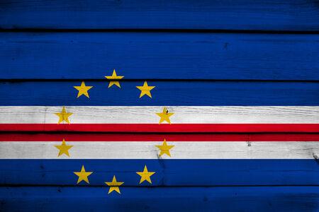 cape verde: Cape Verde Flag on wood background