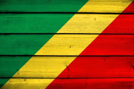 commonwealth: Congo Republic Flag on wood background