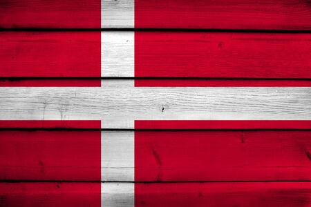 danish flag: Denmark Flag on wood background
