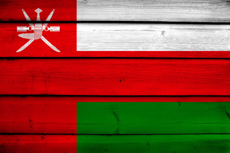 oman background: Oman Flag on wood background