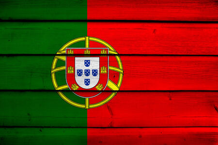 drapeau portugal: Portugal Flag sur bois fond
