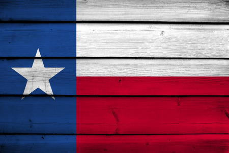 the sovereign: Texas State Flag on wood background Stock Photo