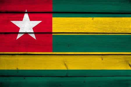 commonwealth: Togo Flag on wood background