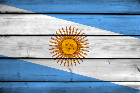 argentina flag: Argentina Flag on wood background