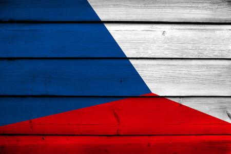 czech republic flag: Czech Republic Flag on wood background