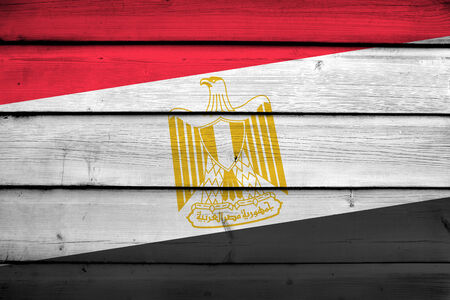 egypt flag: Egypt Flag on wood background