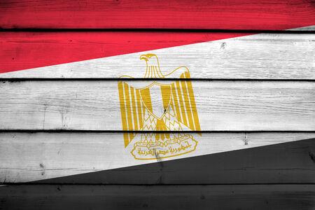 egypt flag: Egypt Flag on wood background
