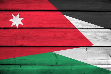 jordan: Jordan Flag on wood background