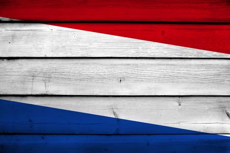 netherlands flag: Netherlands Flag on wood background