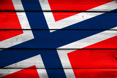 norway flag: Norway Flag on wood background