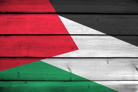 palestine: Palestine Flag on wood background Stock Photo