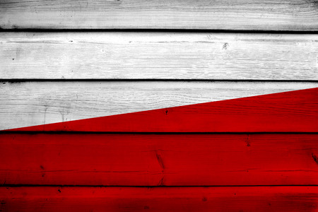 poland flag: Poland Flag on wood background Stock Photo
