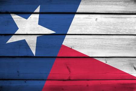 texas state flag: Texas State Flag on wood background Stock Photo