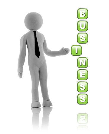 actividad econ�mica: Gente 3D - concepto. El hombre, persona con un lazo negro. El hombre de negocios.