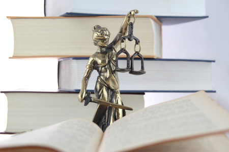 estatua de la justicia: Símbolo de la ley y la justicia.