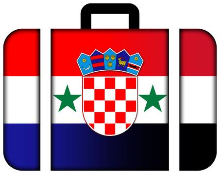 bandera de croacia: Maleta con Siria y la bandera de Croacia