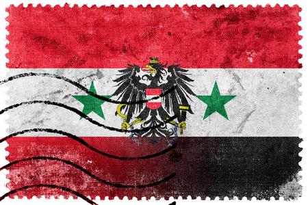 exile: Syria and Austria Flag - old postage stamp Stock Photo