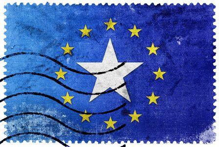 illegally: European Union and Somalia Flag - old postage stamp