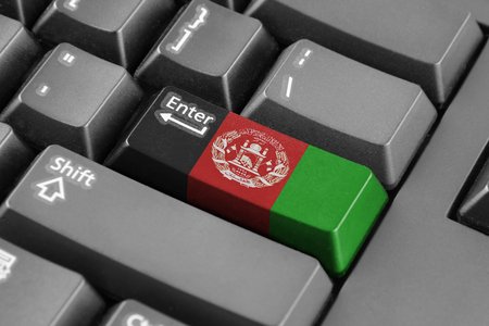 afghanistan: Enter button with Afghanistan Flag