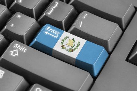 bandera de guatemala: Bot�n Enter con la bandera Guatemala