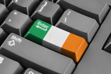 enter button: Enter button with Ireland Flag