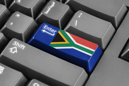 enter button: Enter button with South Africa Flag