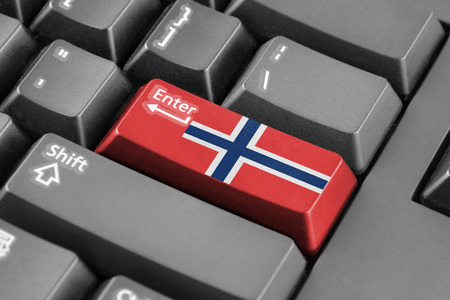 norway flag: Enter button with Norway Flag