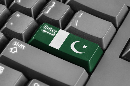 pakistan flag: Enter button with Pakistan Flag