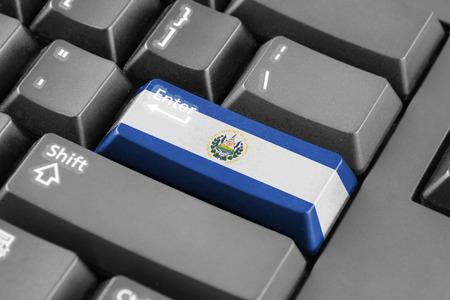 bandera de el salvador: Botón Enter con Bandera de El Salvador