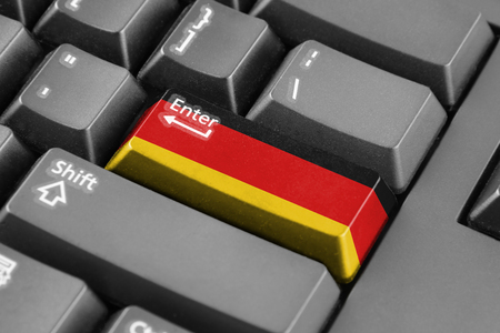 enter button: Enter button with Germany Flag