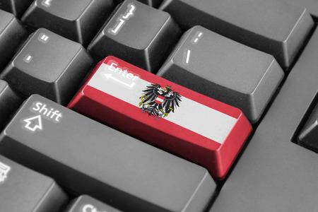 enter button: Enter button with Austria Flag
