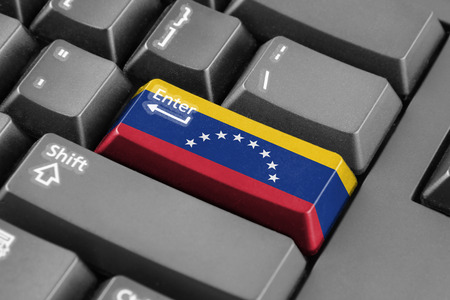 venezuela flag: Bot�n Enter con la bandera Venezuela