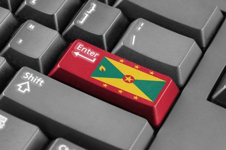 grenada: Enter button with Grenada Flag