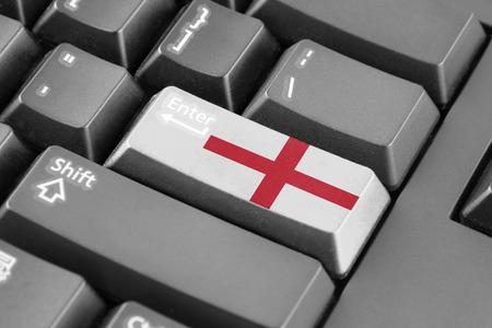enter button: Enter button with England Flag