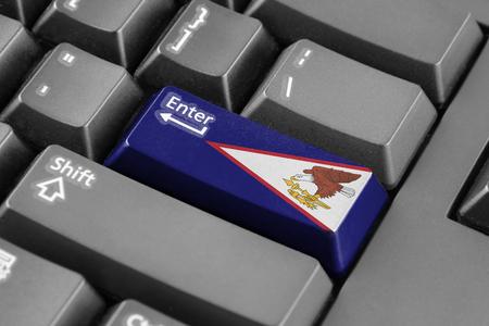 samoa: Enter button with American Samoa Flag