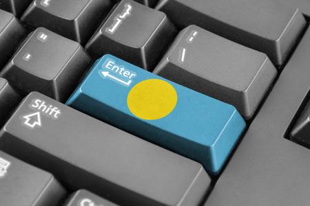enter button: Enter button with Palau Flag
