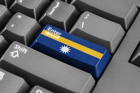 enter button: Enter button with Nauru Flag