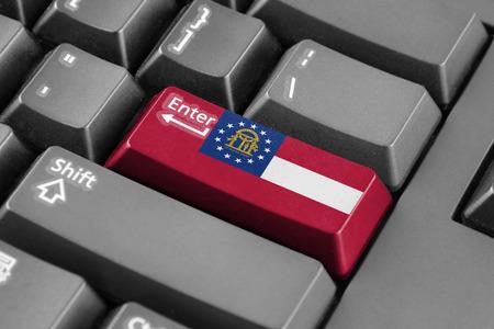 enter button: Enter button with Georgia State Flag