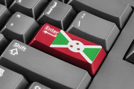 burundi: Enter button with Burundi Flag