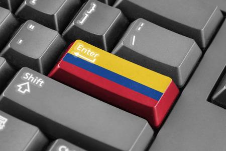 enter button: Enter button with Colombia Flag