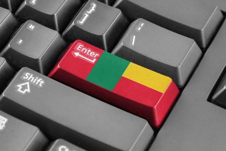 Enter button with Benin Flag