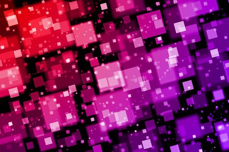 quadrat: Red and purple squares. Abstract  background with bokeh effect