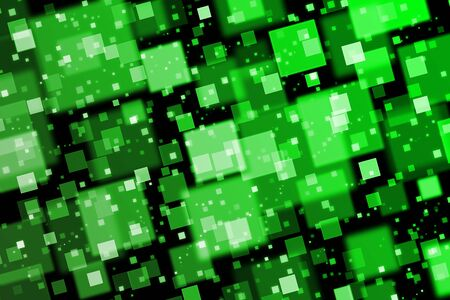 quadrat: Green squares. Abstract  background with bokeh effect