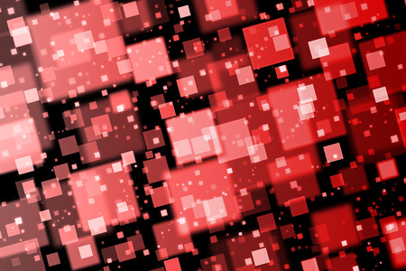 quadrat: Red squares. Abstract  background with bokeh effect
