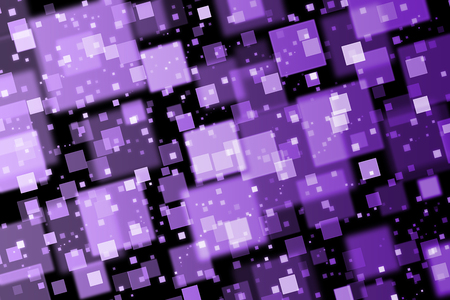 quadrat: Purple squares. Abstract  background with bokeh effect